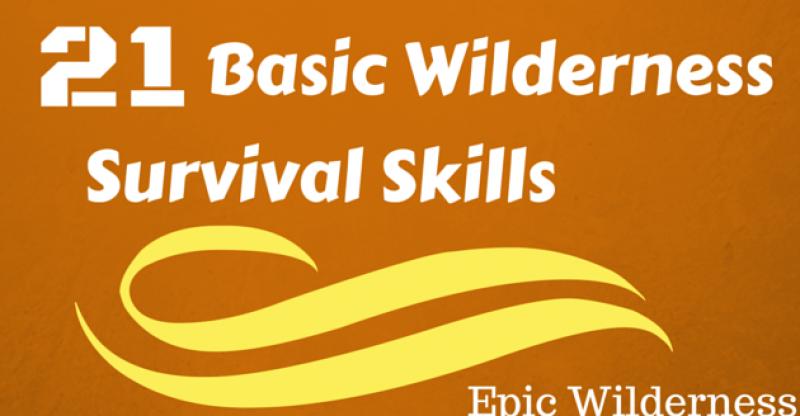 21 Basic Wilderness survival skills