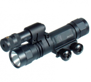 UTG Xenon Weapon Mount Light & Red Laser with Rotation Ring