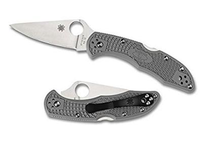Spyderco Delica4 Lightweight FRN Flat Ground PlainEdge Knife