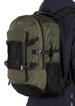LESHP Waterproof Solar Charger Backpack