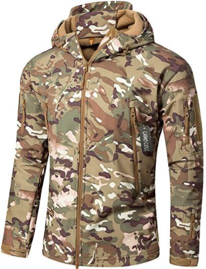 Camo Coll Soft Shell Hooded Jacket