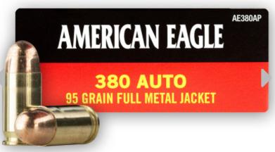 Federal American Eagle 380 ACP Ammo