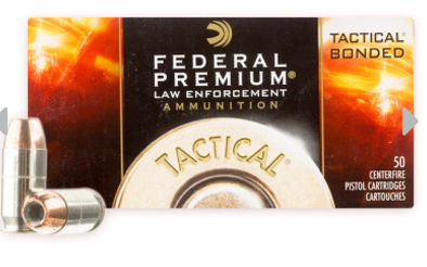 Federal LE Tactical Bonded 45 acp ammo