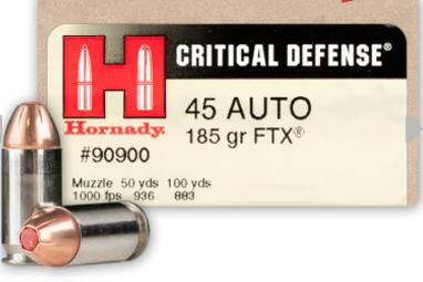 Hornady Critical Defense ammunition