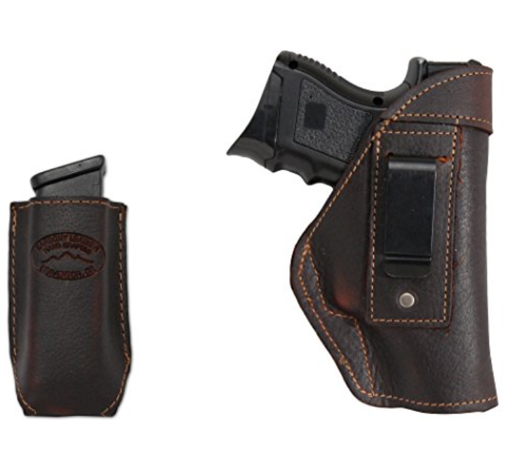 New Barsony Brown Leather IWB Sheath