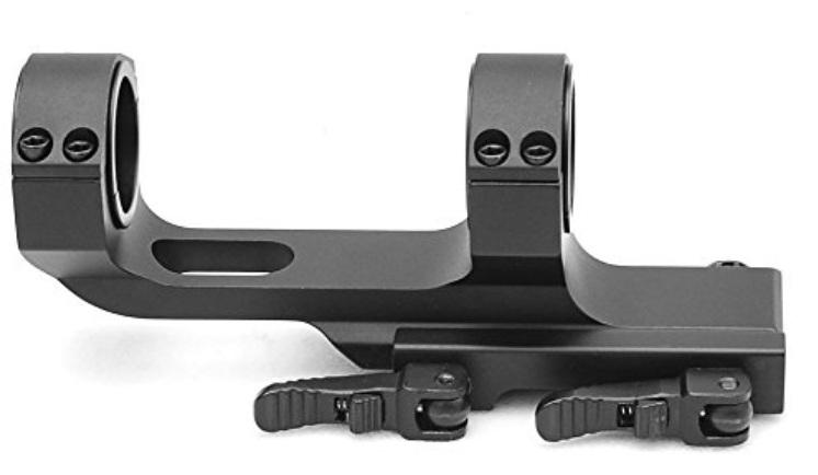 Flat Top Offset QD Scope Mount with Quick Release