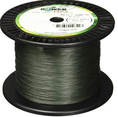 spectra moss green braided line
