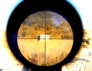 Align your scope's crosshairs