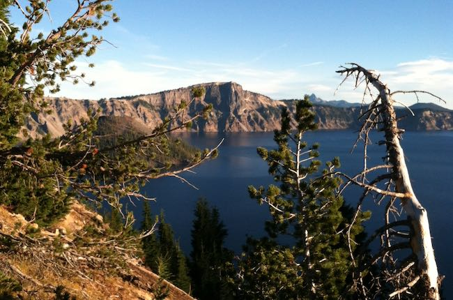 View from the Western rim of Crater Lake