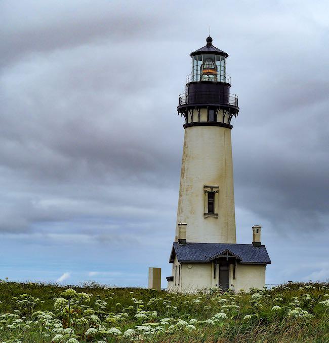 Lighthouse in Newport Oregon near the coast