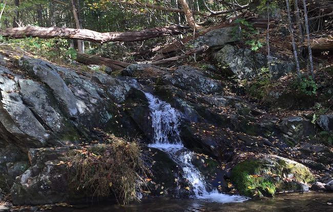waterfall in the Shenandoah Valley Virginia