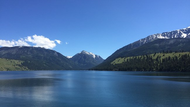 Wallowa Lake near Joseph from the northern shorline