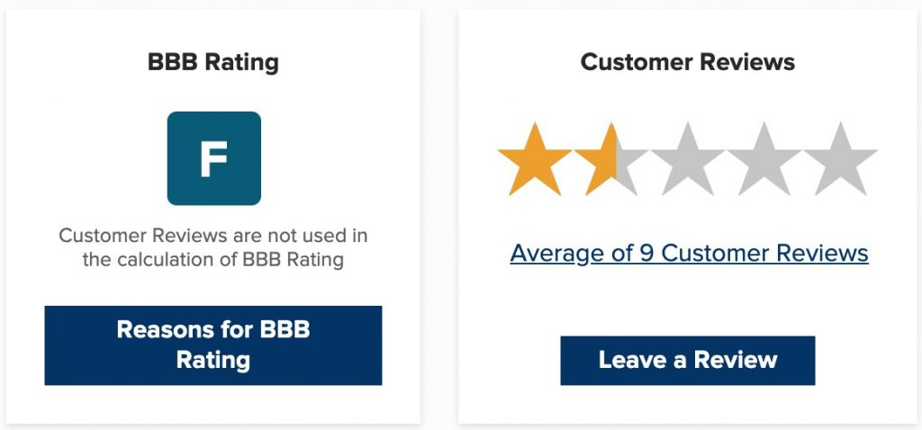 BBB rating for Cruise America