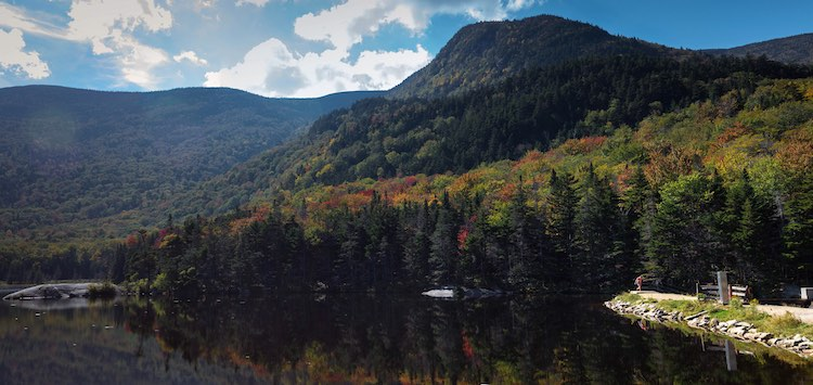 the white mountain national forest in New Hampshire